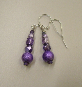 Purple beads with silver #