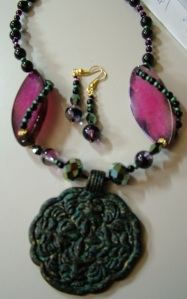Monthly Special, custom jewelry, jewelry, purple, necklace, earrings
