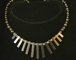 Necklace with Metal