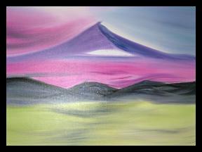 Framed landscapes in purple